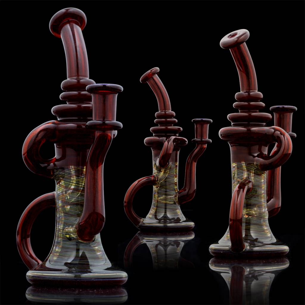 ET Glass ET Glass PhoneHomeGrown Red / Retti Klein Recycler Rig