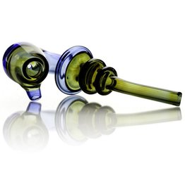 GERM Germ Blue & Dark Green Glass Sherlock Hand Pipe