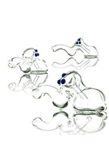 Witch DR Witch DR Clear Laydown Glass Bubbler by Treso Queso