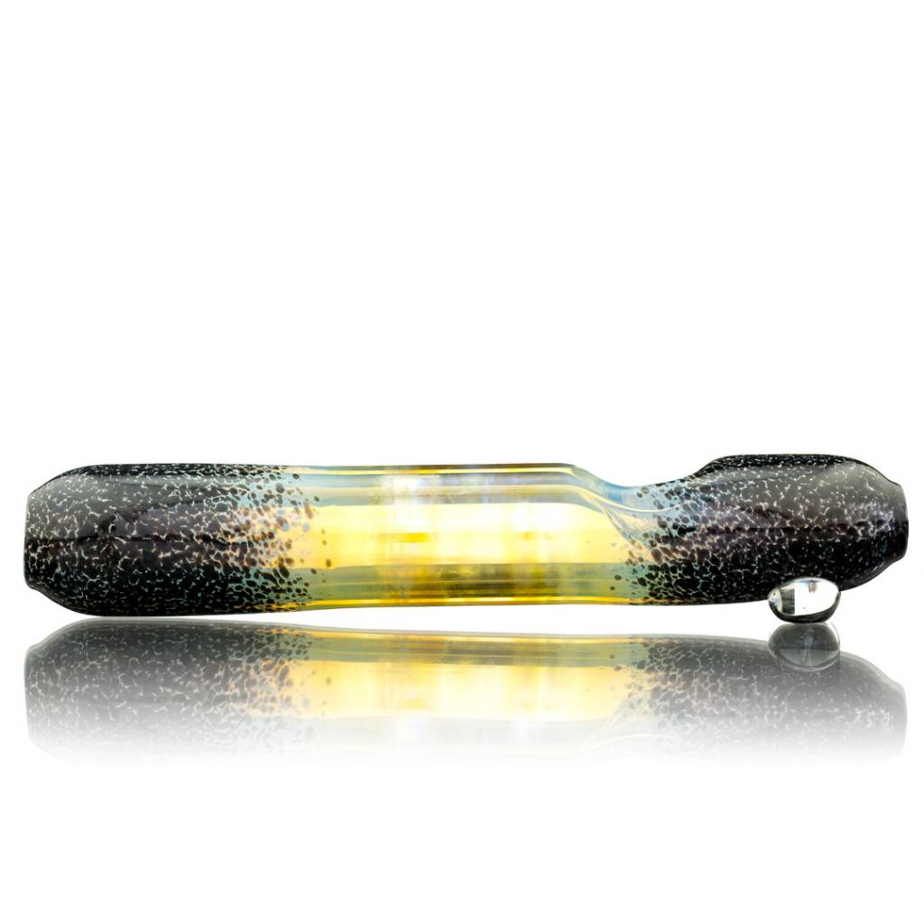 Witch DR Witch DR Fume & Black Frit Glass Steamroller Hand Pipe by Treso Queso