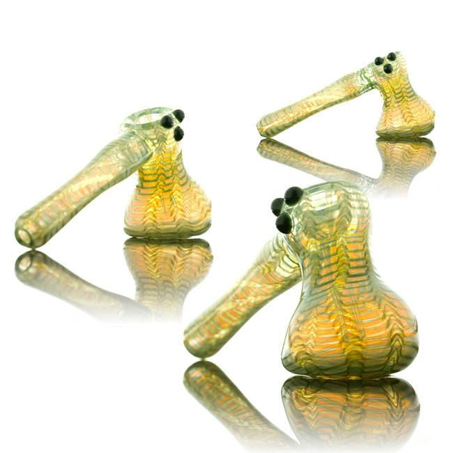Witch DR Witch DR Green Wrap & Rake Hammer Bubbler by Treso Queso