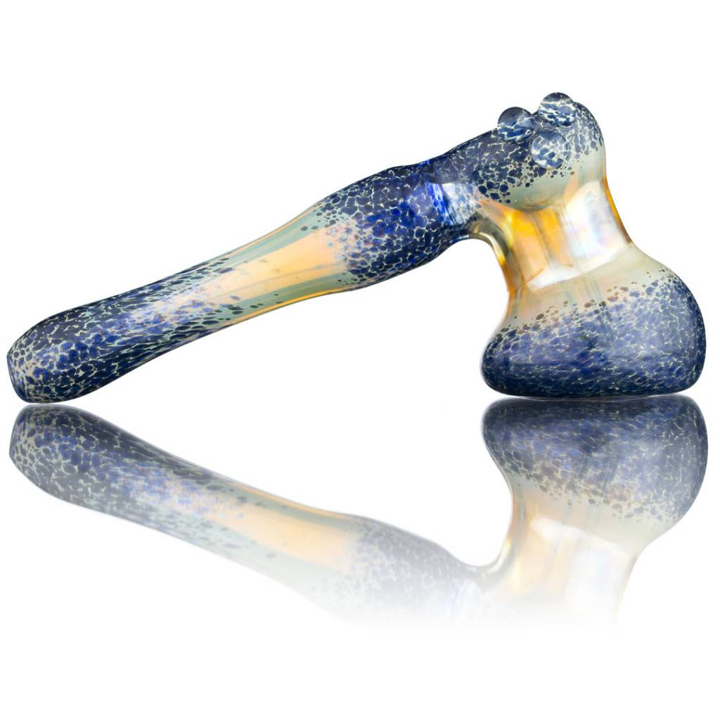 Witch DR Witch DR Fume & Blue Frit Glass Bubbler Hammer by Treso Queso