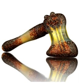 Witch DR Witch DR Fume & Red Frit Hammer Bubbler by Treso Queso
