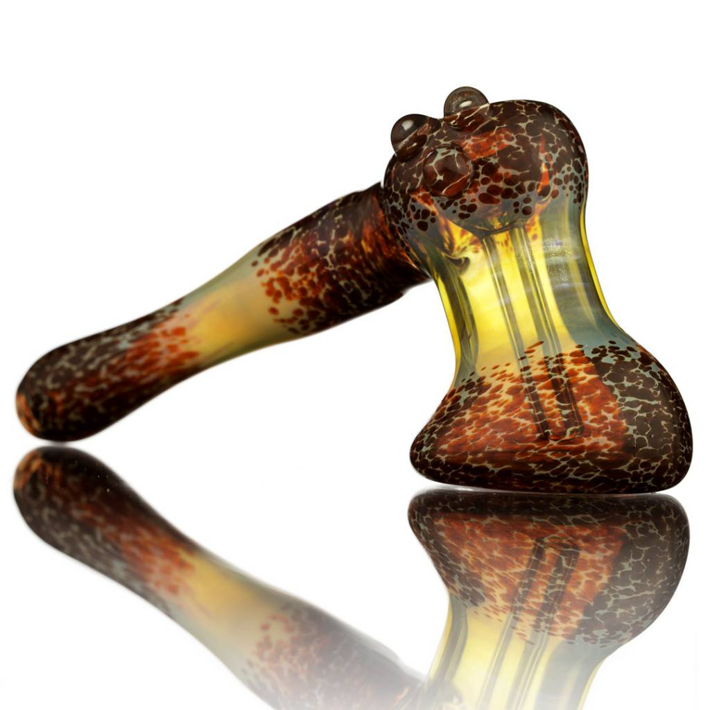 Witch DR Witch DR Fume & Red Frit Glass Bubbler Hammer by Treso Queso