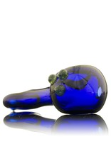 Witch DR Witch DR Cobalt Flat Mouthpiece Hand Pipe by GloRo Glass