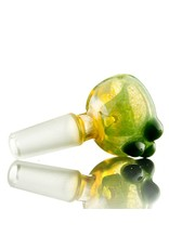 Witch DR Witch DR 10mm Green Frit Bubble Slide Bowl by Treso Queso