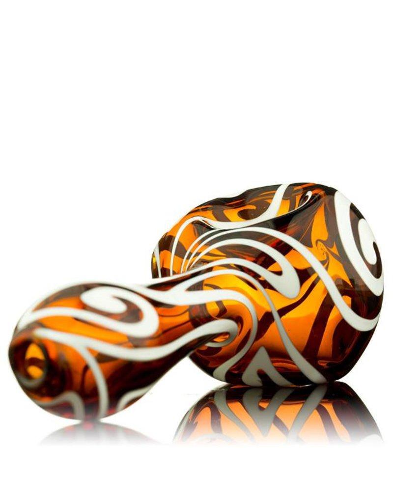 Rowan Rowan Amber Celtic Tux Spoon Hand Pipe - Waldo's Wonders