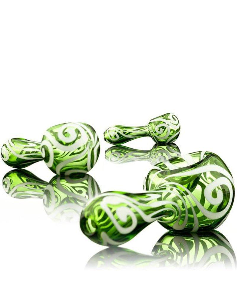 Rowan Rowan Green Celtic Tux Spoon Hand Pipe- Waldo