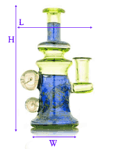 image showing how dab rig was measured