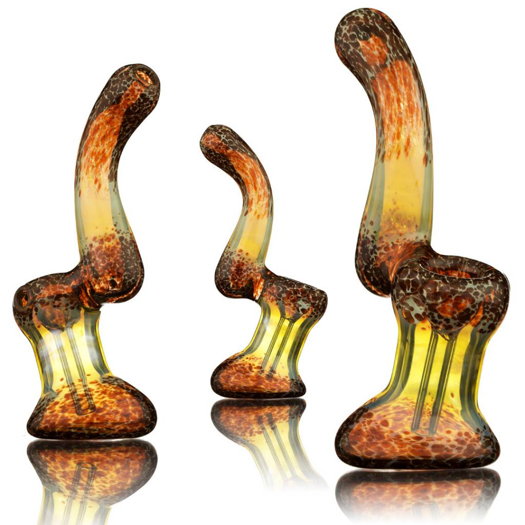 Witch DR Witch DR Fume & Red Frit Glass Sherlock Bubbler by Treso Queso