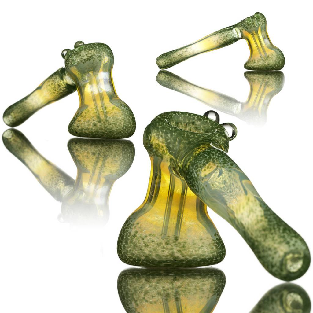 Witch DR Witch DR Fume & Green Frit Glass Bubbler Hammer by Treso Queso