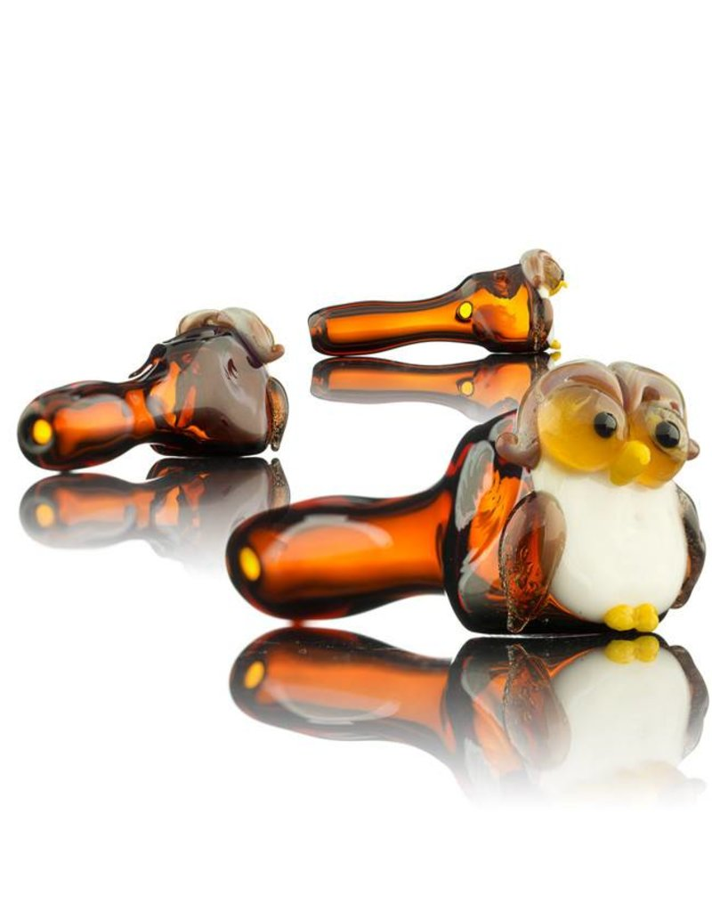 Tammy Baller Tammy Baller Owl Glass Spoon Hand Pipe