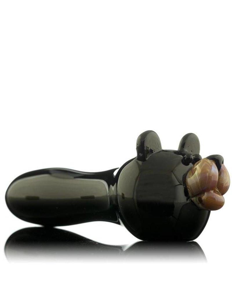 Tammy Baller Tammy Baller Black Bear Glass Spoon Hand Pipe