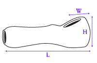 image showing how glass spoon hand pipe was measured
