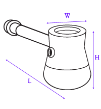image showing how hand pipe was measured