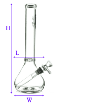 image showing how beaker bong was measured