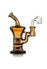 Blais Glass Jeff Blais Maple Syrup Mini Rig w/ Nail - Waldo's Wonders