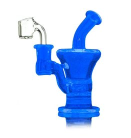 Blais Glass Jeff Blais Blu-V Mini Rig w/ Nail - Waldo's Wonders