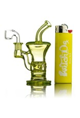 Blais Glass Jeff Blais UV Yellow Mini Dab Rig w/ Nail- Waldo