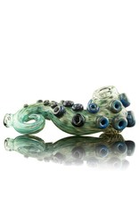 Dina K Tab Glass Green / Blue Tentacle Spoon Glass Enthusiast