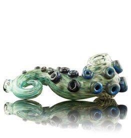 Dina K Tab Glass Green / Blue Tentacle Spoon Glass Enthusiast