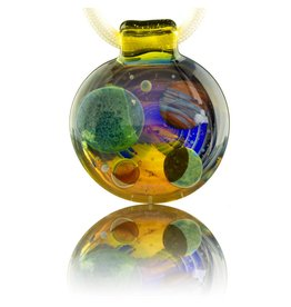 Jolex Transparent Strata Terps Pendant With Red Planet
