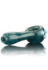 Witch DR Witch DR Inside Out Black & Blue Frit Spoon Pipe by GloRo Glass