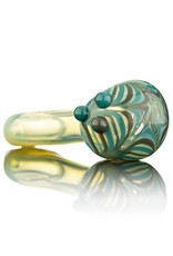 Witch DR Witch DR Gray & Azul Wrap & Rake Head Flat Mouthpiece Spoon Pipe by GloRo Glass