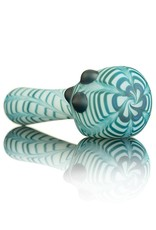 Witch DR Witch DR Frosted Blue Spruce Wrap & Rake on White Pipe by Treso Queso