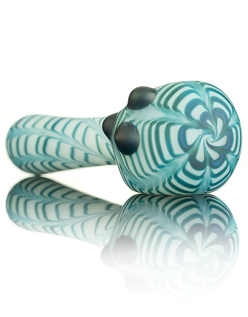 Witch DR Witch DR Sandblasted Blue Spruce Wrap & Rake on White Pipe by Treso Queso