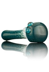 Witch DR Witch DR Blue Frit on White Pipe by Treso Queso