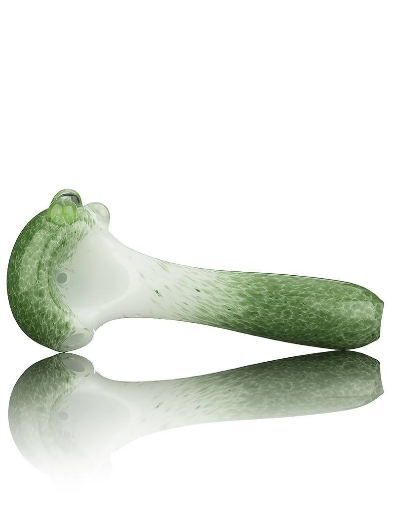 Witch DR Witch DR Green Frit on White Pipe by Treso Queso