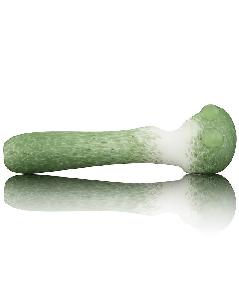 Witch DR Witch DR Frosted Green Frit on White Pipe by Treso Queso