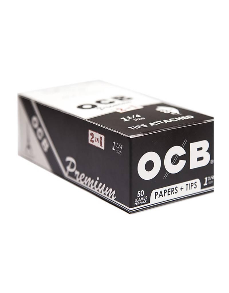 OCB OCB 1 1/4 Premium + Tips 24/Box