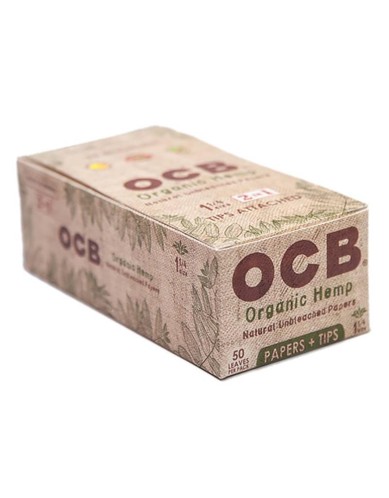 OCB OCB 1 1/4 Organic Hemp + Filters 24/Box