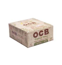 OCB OCB King Size Organic Hemp + Tips 24/Box