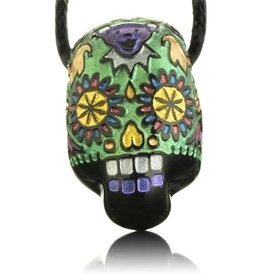 Joei Masataka Joei Masataka Green Sugar Skull Glass Pendant