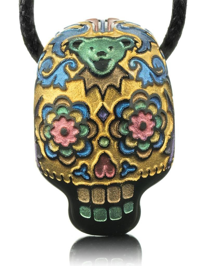 Joei Masataka Joei Masataka Gold Sugar Skull Glass Pendant