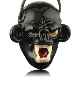 COYLE SOLD Coyle Black Open Mouth Monkey Glass Pendant