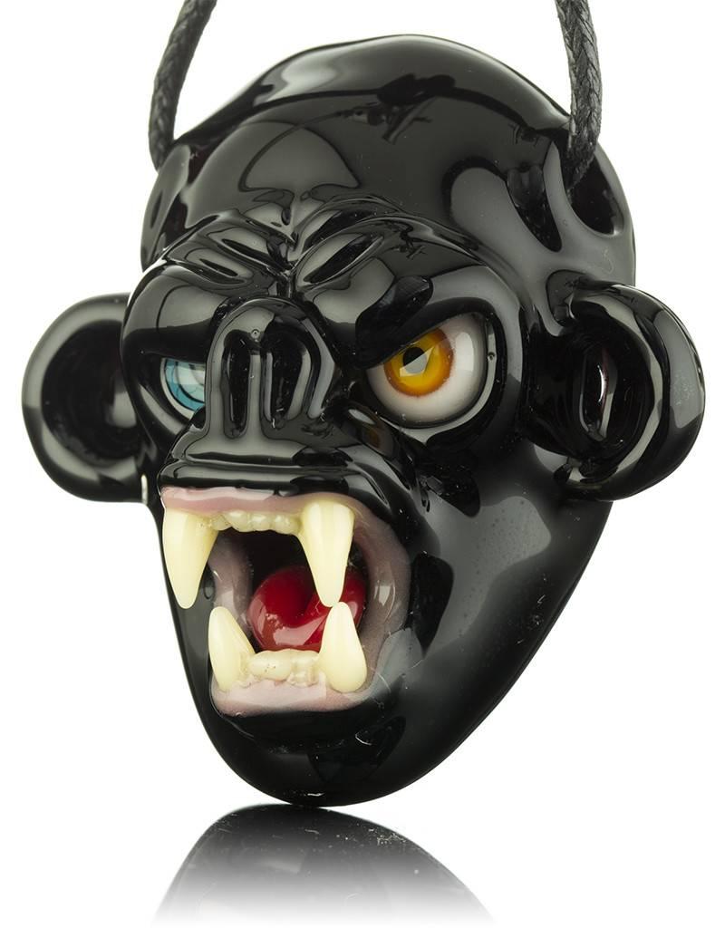 COYLE Coyle Black Open Mouth Monkey Glass Pendant
