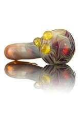 Witch DR Witch DR Amber Purple Functional Mini Spoon Pipe Pendant by GloRo Glass