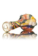 David James Spoon Pipe by David James Large Glass Spoon Pipe w/ Dichro 2 Inside Out