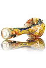 David James SOLD David James Small Glass Spoon Pipe w/ Dichro 1 Inside Out
