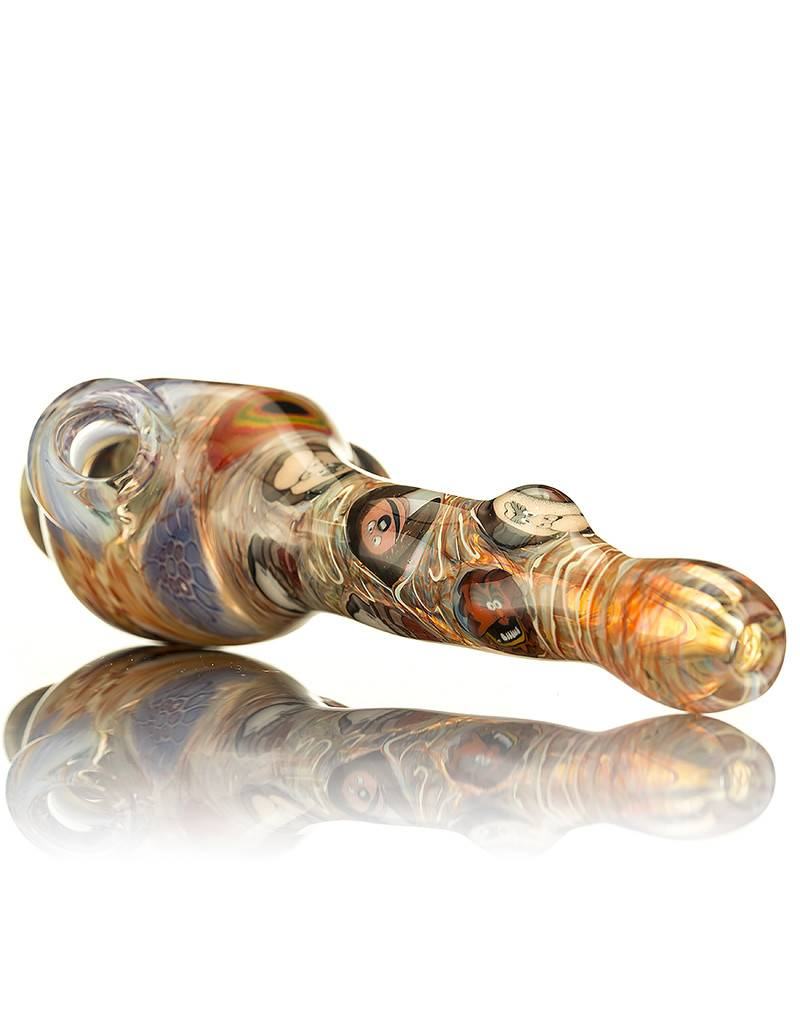 Jerry Kelly SOLD Jerry Kelly Millie Glass Spoon Pipe 4 Muppets Theme