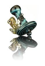 UKIAH Ukiah Blue, Black & Steel Wool Directional Cap w/ Clear Frog Attached