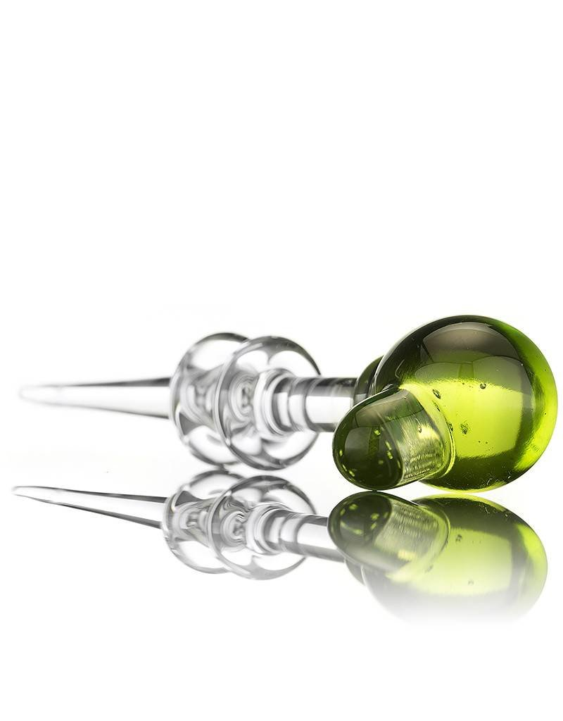 Witch DR Witch DR Transparent Green Accented Ball Head Dabber by Treso Queso