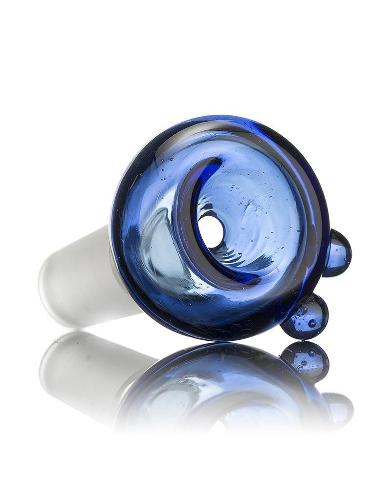 Witch DR Witch DR 14mm Blue Coil Pot Bowl Slide by GloRo Glass