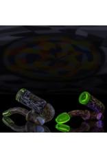 Hollinger Hollinger Dual Tie Dye Chipstack Sherlock w/Badge & UV Illuminati Accents & Opal Coin
