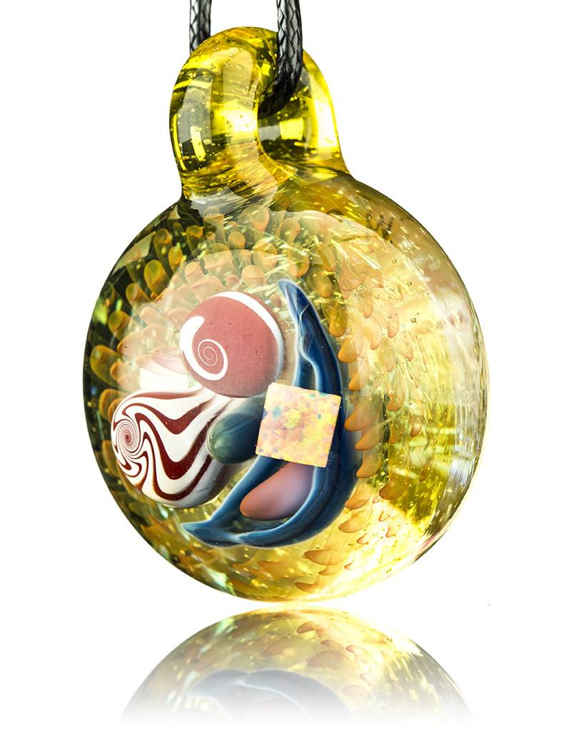Mike Gong Gold Acid Eater Pendant