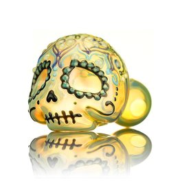 Dina K Dina K Sugar Skull Spoon Pipe 5 Glass Enthusiast